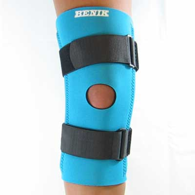 K-203 Knee Sleeve W/Repositionable Buttress, Spriral Stays and Cinch Straps